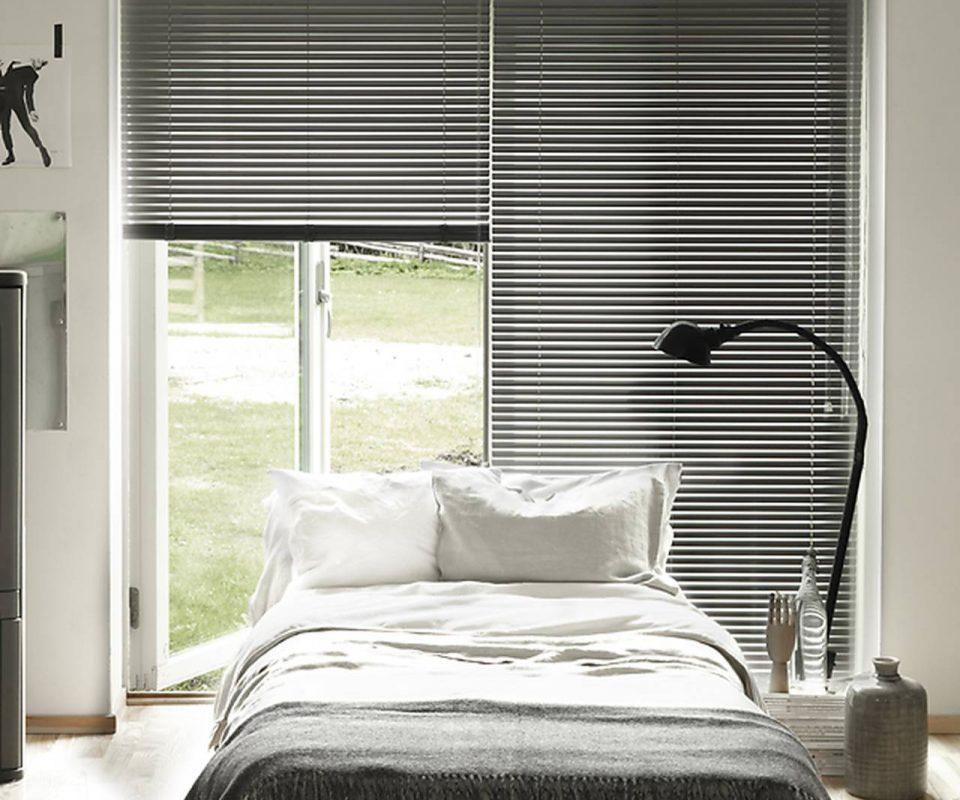 Persienner i aluminium til soveværelset